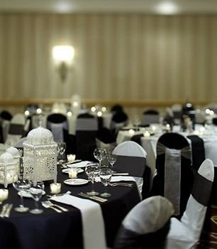 function hall banquet restaurant wedding ceremony Party ballroom wedding reception centrepiece set conference room