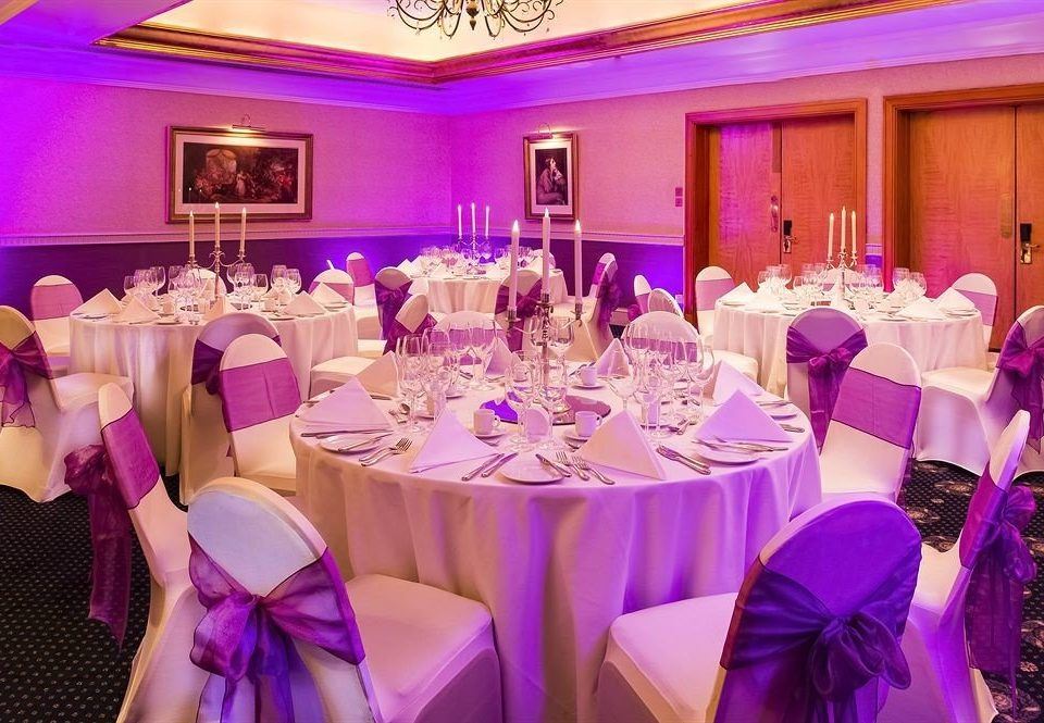 purple function hall pink quinceañera wedding banquet Party wedding reception ceremony flower ballroom event fancy colored