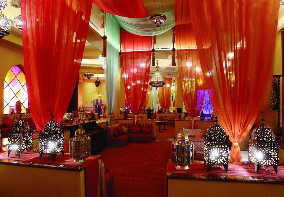 red function hall curtain ceremony banquet wedding Party restaurant wedding reception ballroom