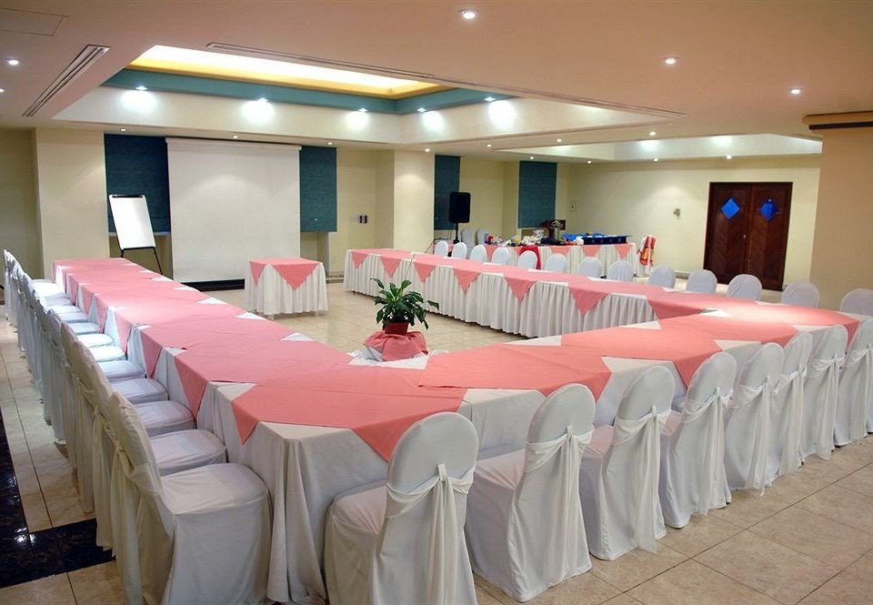 function hall banquet conference hall Party event row ballroom restaurant convention center meeting line long lined colored