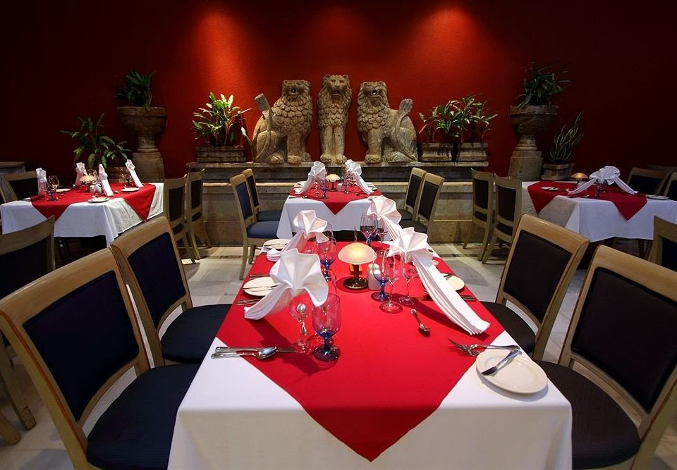 banquet function hall ceremony red wedding event Party dining table
