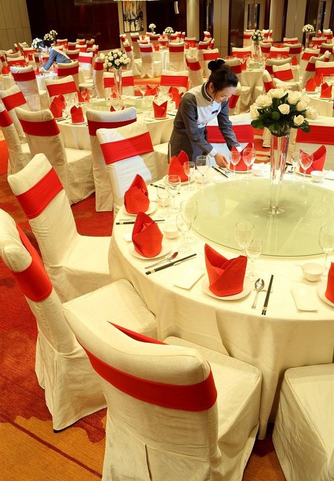 red banquet function hall lunch restaurant wedding Party dinner