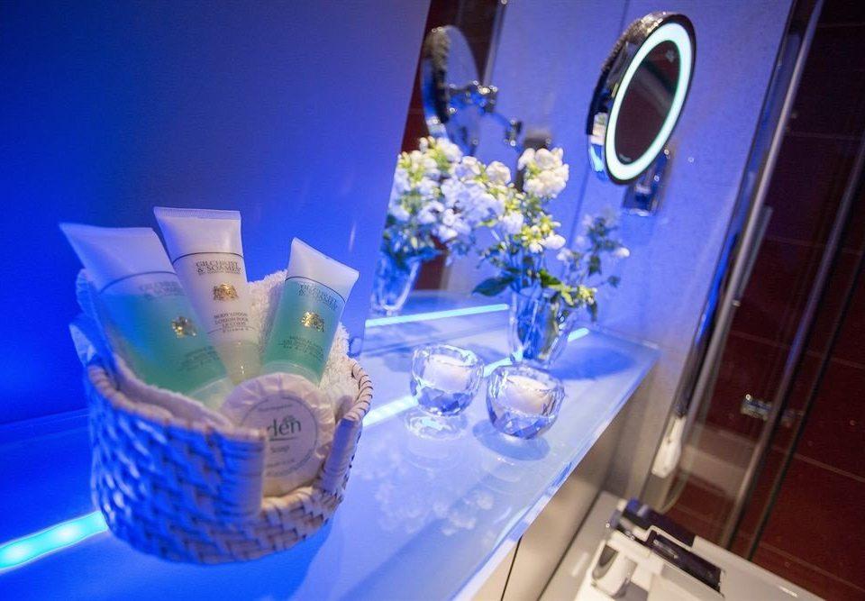 blue centrepiece flower Party