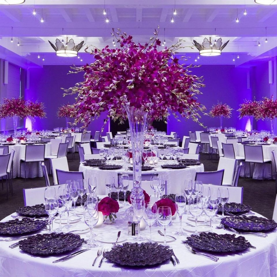 purple function hall centrepiece banquet quinceañera wedding reception wedding Party pink scene ceremony floristry ballroom flower arranging flower floral design Resort surrounded dining table