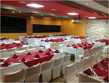function hall banquet scene conference hall auditorium Party convention center restaurant ballroom long Shop