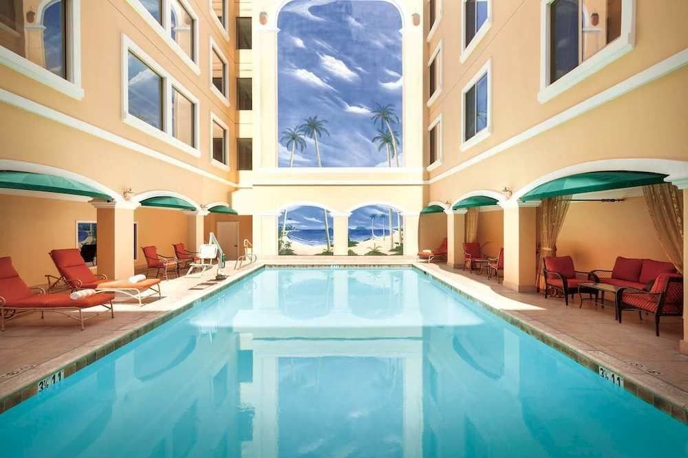 Patio Pool swimming pool property leisure Resort mansion Villa