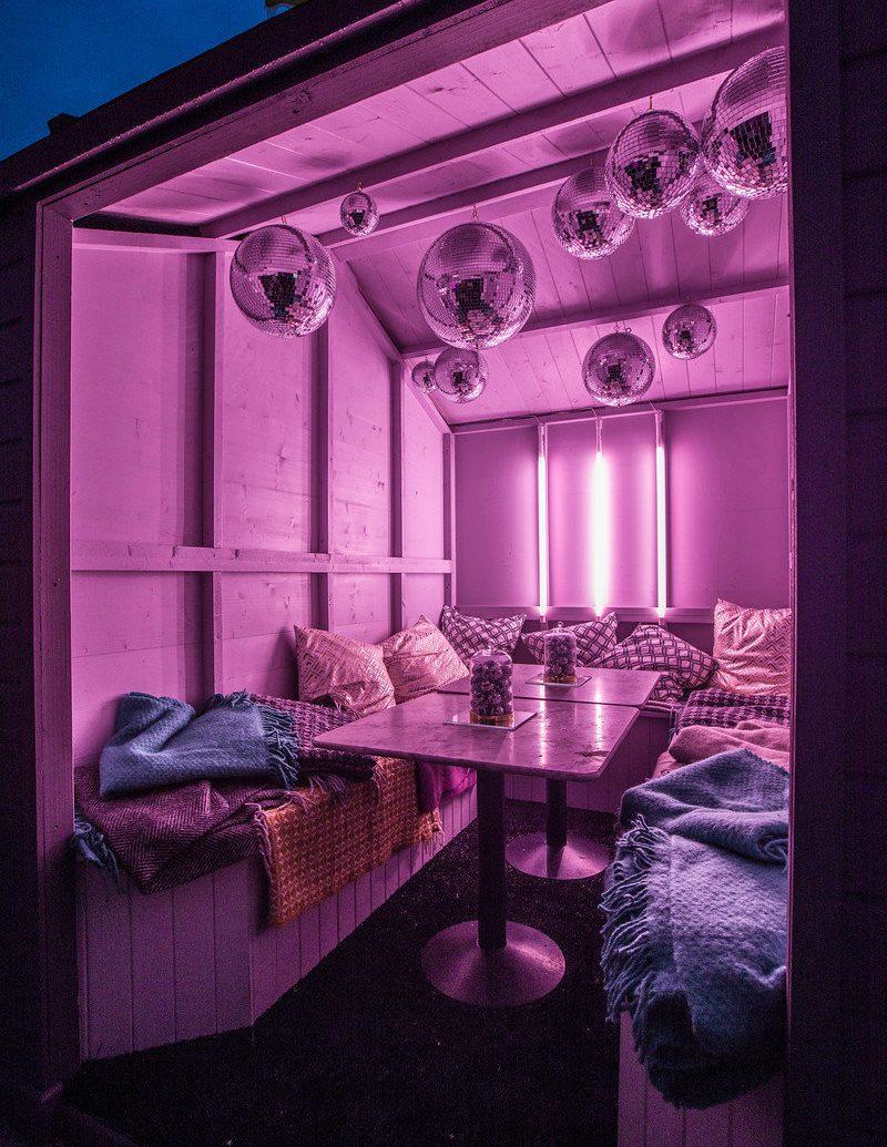 Food + Drink room interior design lighting