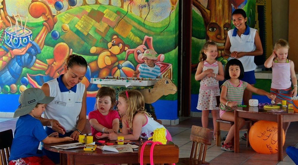 child little kindergarten Play school colorful