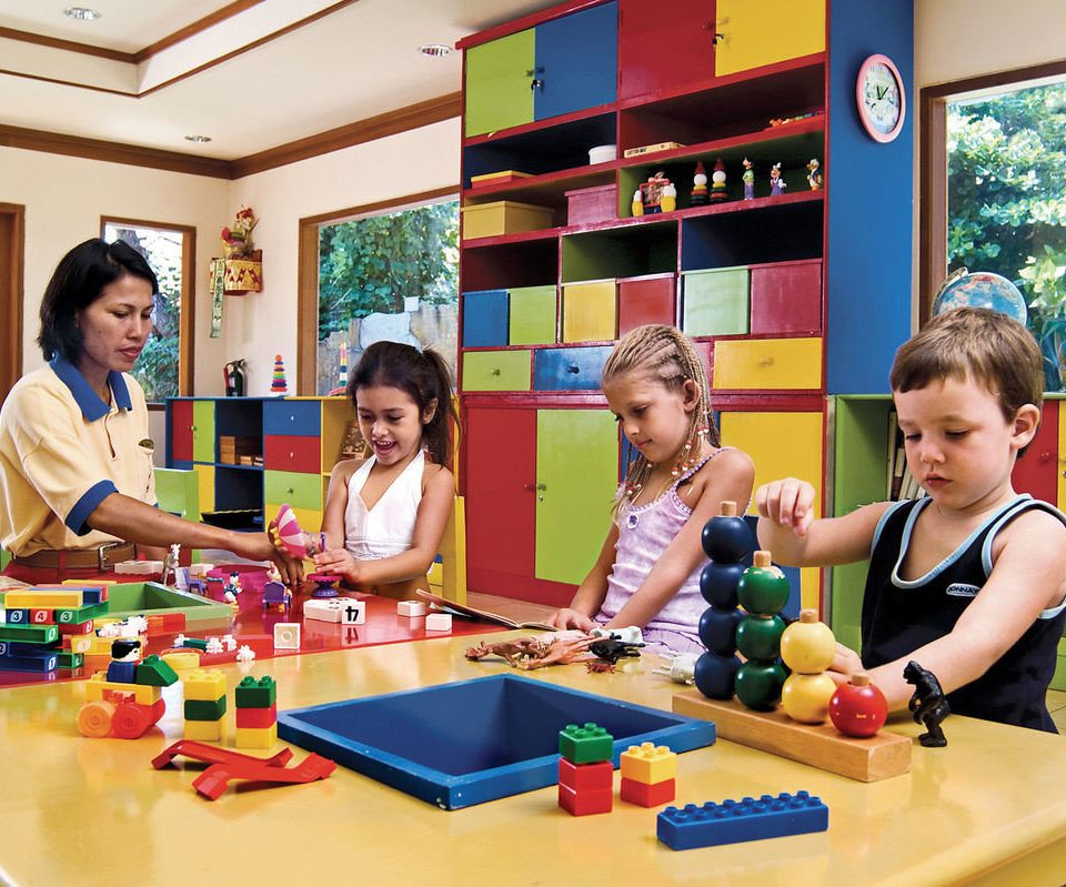 Play kindergarten classroom group school learning toy lunch class