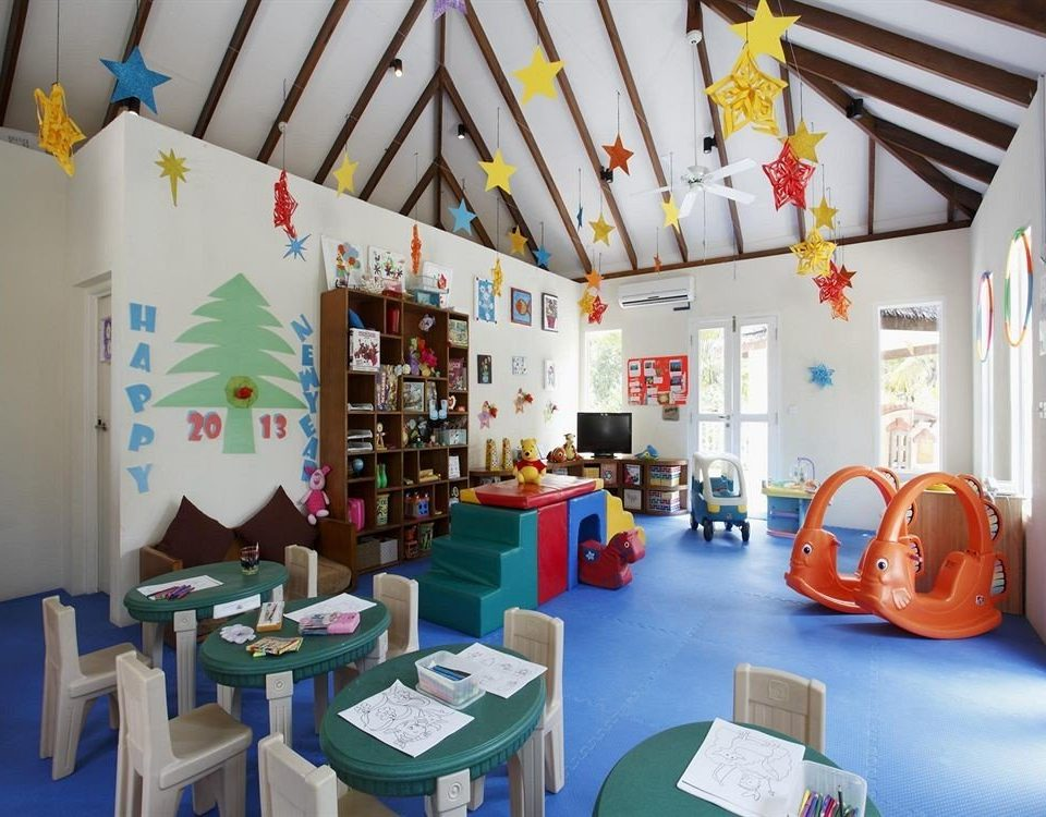 kindergarten Play classroom colorful cluttered