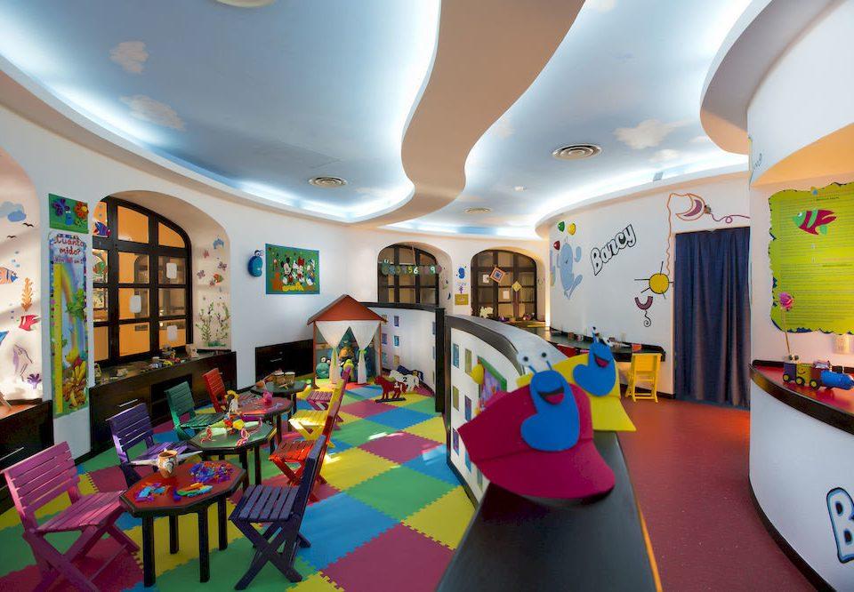 Play kindergarten classroom colorful