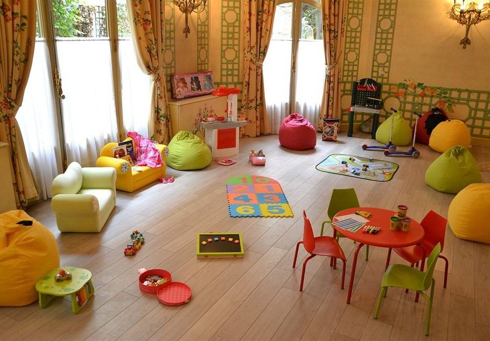 color living room Play cluttered