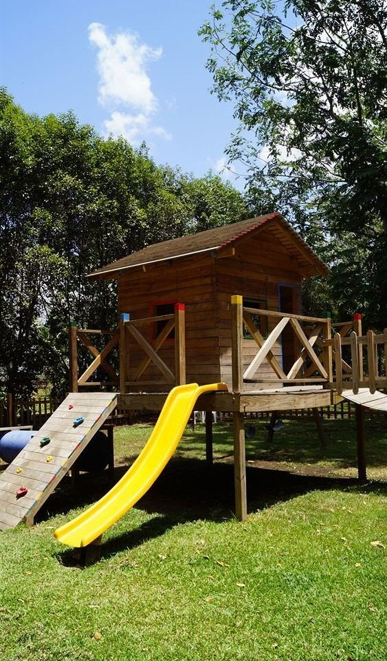 tree grass leisure Playground wooden outdoor play equipment green lawn Play backyard outdoor recreation cottage recreation climbing frame