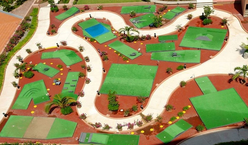 green Playground amusement park outdoor play equipment Play Water park park Resort recreation miniature golf stadium aerial photography