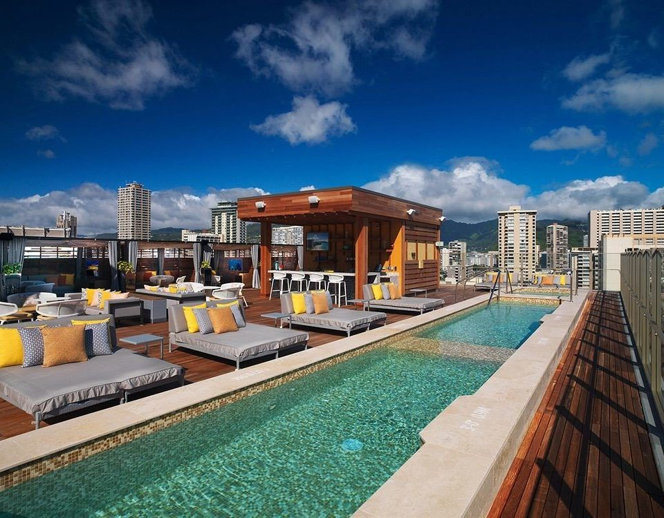 Play Pool Resort Rooftop Scenic views sky swimming pool property condominium house Villa home mansion Sea dock marina