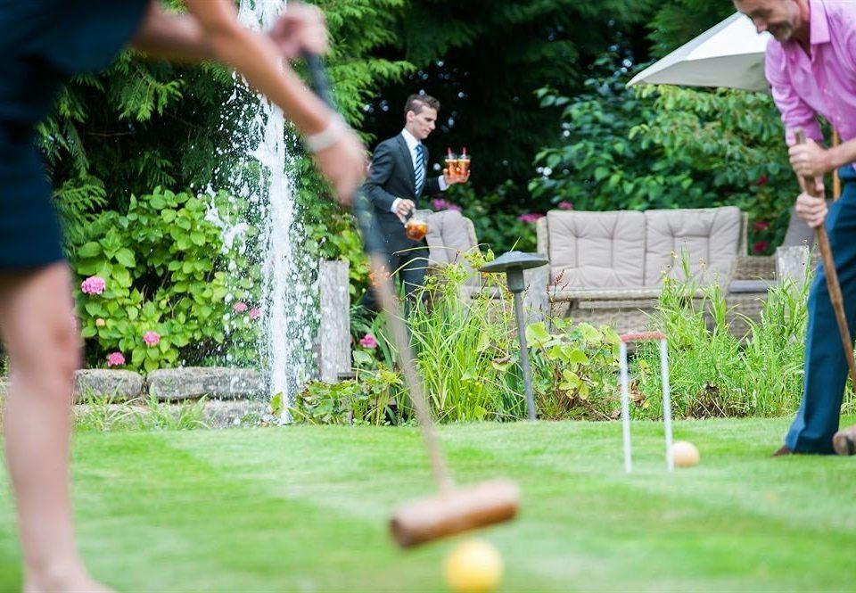 grass tree Sport green lawn sports Play outdoor recreation backyard recreation croquet