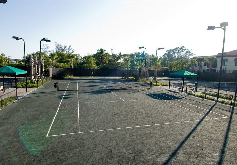 sky structure Sport athletic game sport venue baseball field basketball tennis court stadium net residential area sports race track way Playground walkway railroad