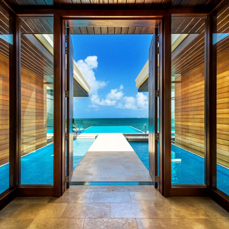 building property home door Pool overlooking