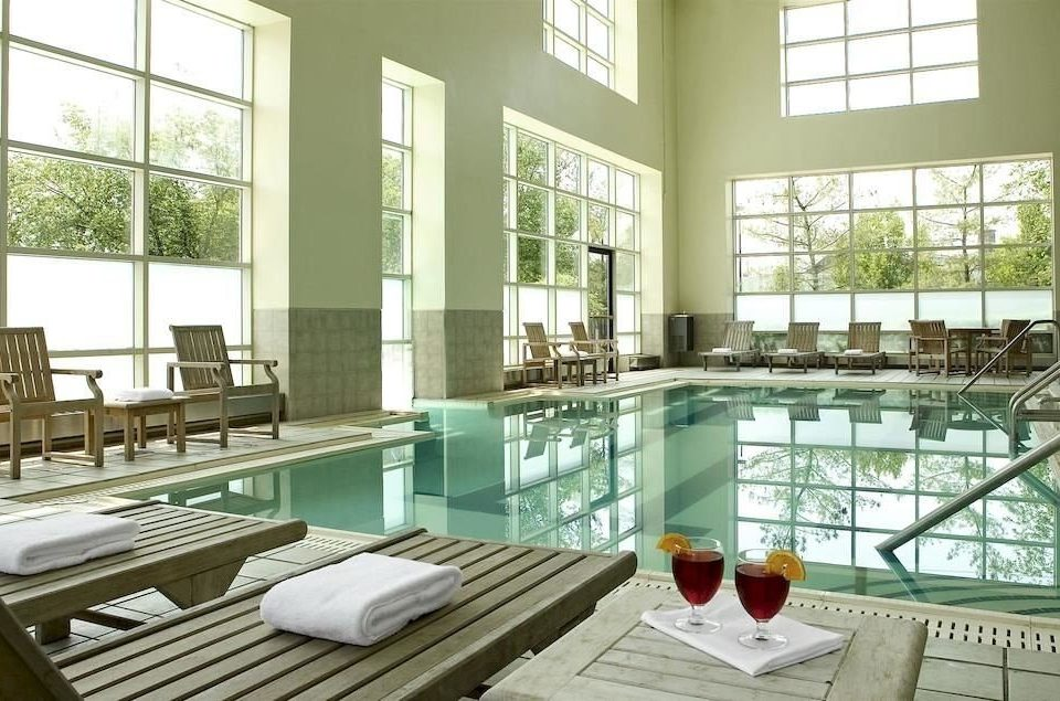 Pool condominium property glass home living room mansion dining table