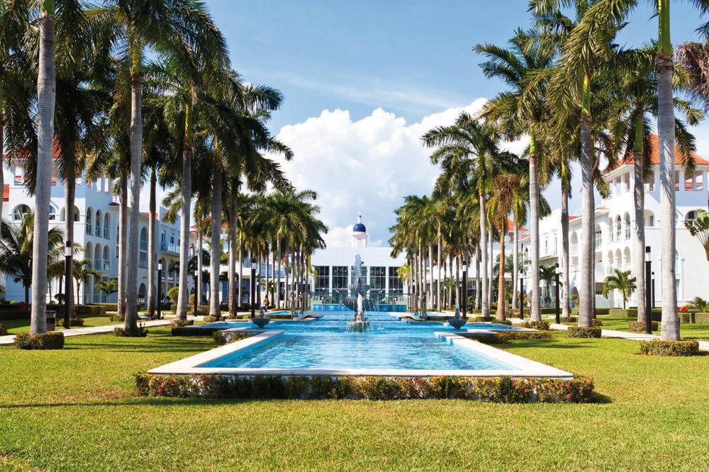 grass tree sky palm leisure park Resort plant lawn arecales Pool plaza swimming pool palm family walkway town square lined