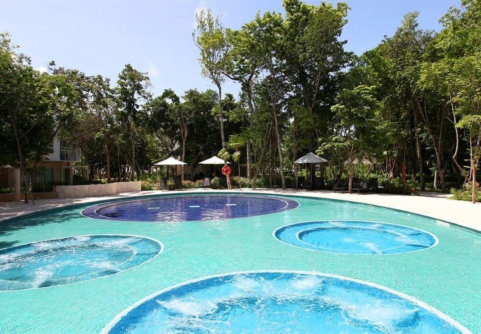 tree sky Pool swimming pool property leisure Resort swimming blue backyard bathtub
