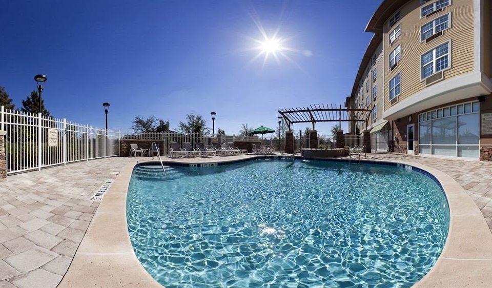 ground sky swimming pool property Pool walkway condominium plaza Resort backyard empty swimming
