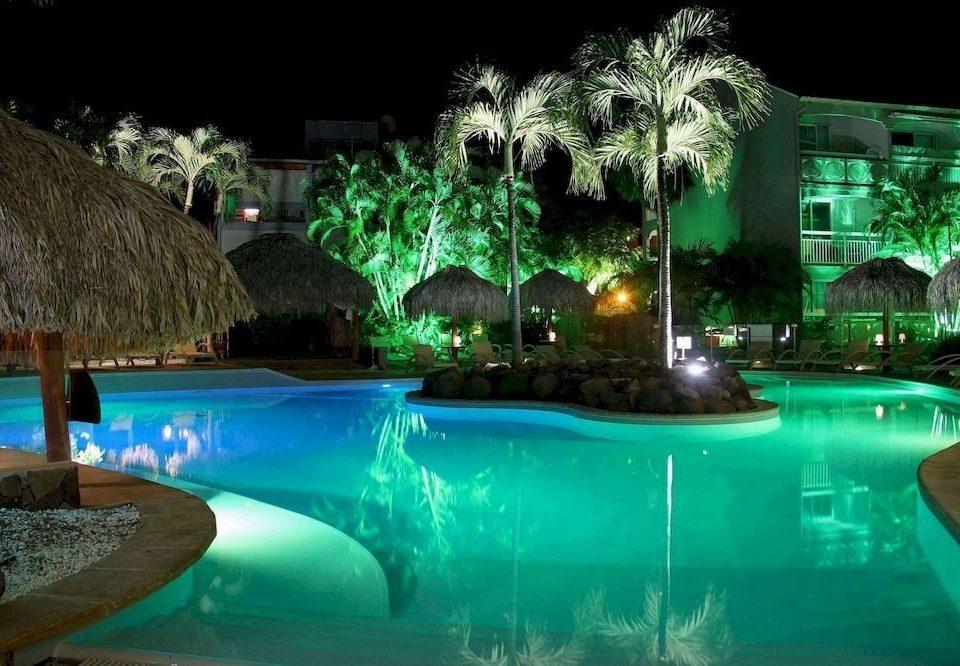 swimming pool Resort green Pool landscape lighting resort town backyard swimming