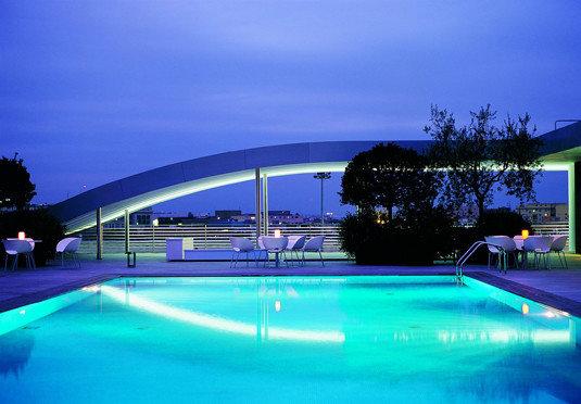 sky swimming pool building leisure Resort Pool blue