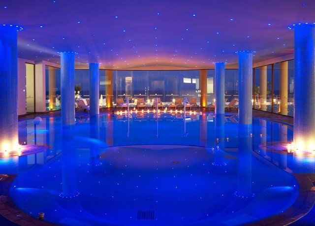 blue swimming pool Resort stage nightclub function hall Pool convention center mansion
