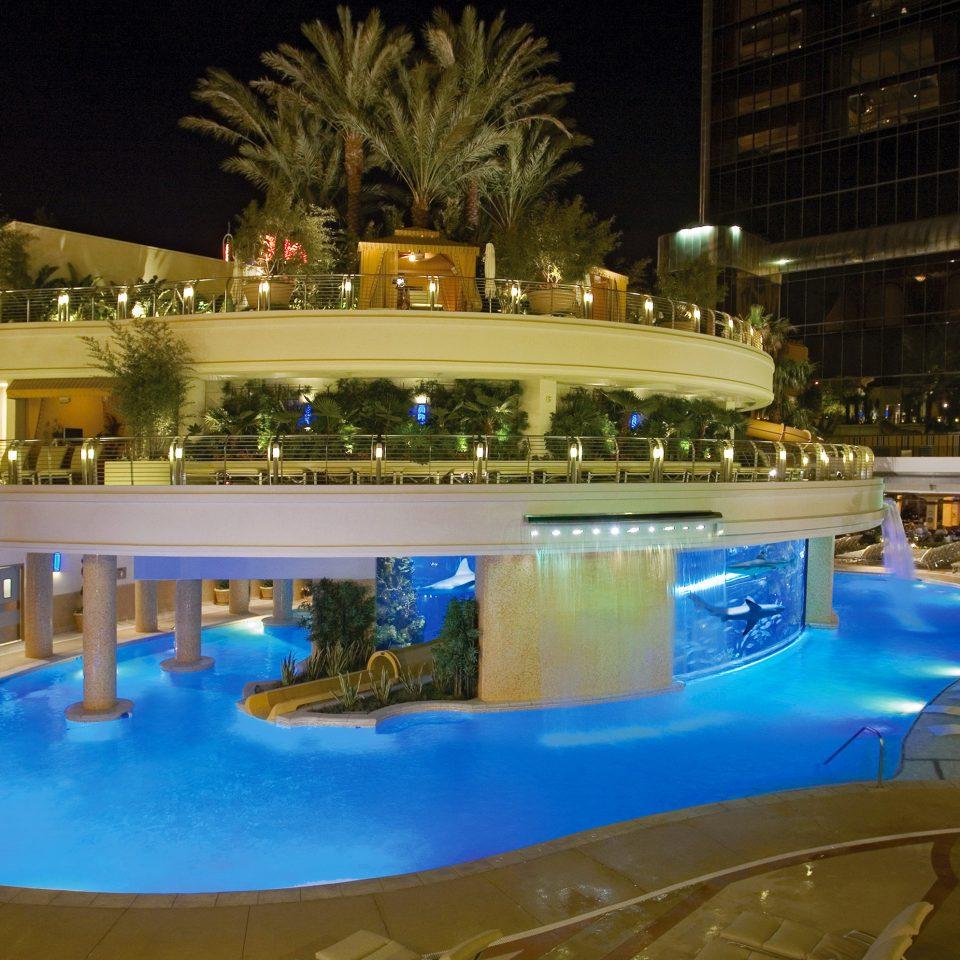 swimming pool Pool Resort night blue swimming