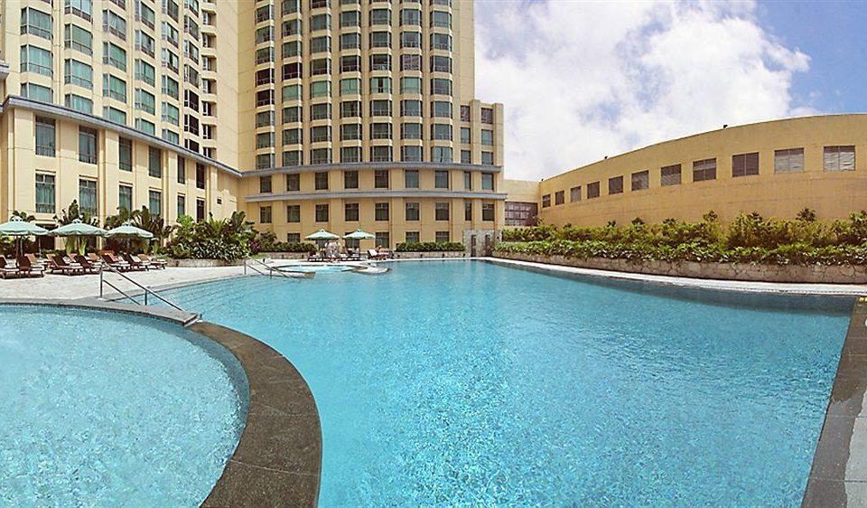 water swimming pool property condominium Pool building Resort swimming reflecting pool palace mansion