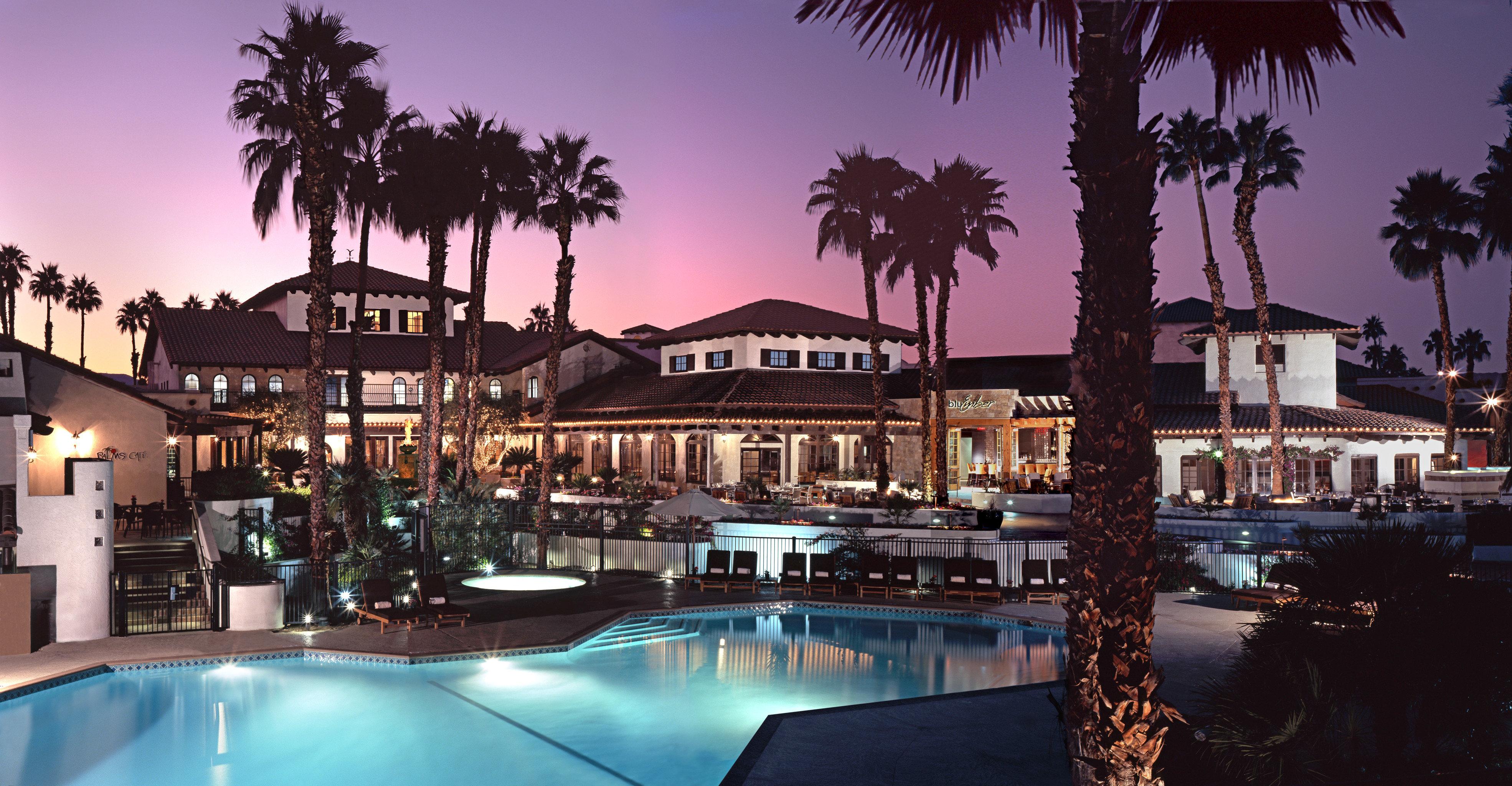 Pool Resort marina tree evening swimming pool plaza dock palm