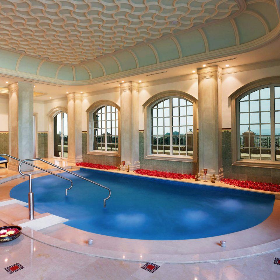 Pool Scenic views Wellness swimming pool property leisure Resort building billiard room recreation room mansion Villa home jacuzzi hacienda palace hall
