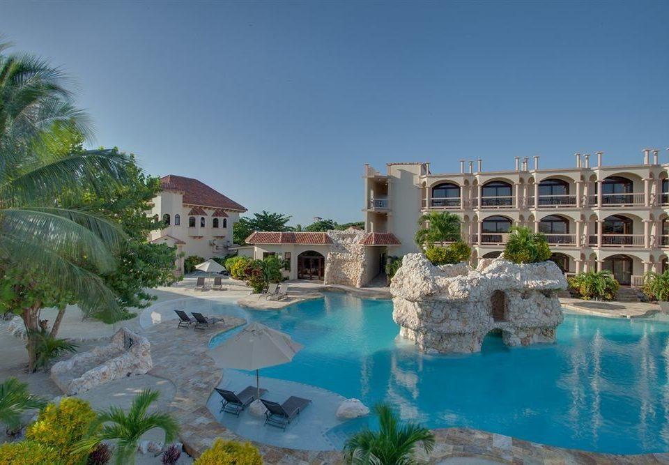 property swimming pool Resort house condominium palace Villa mansion Pool Sea
