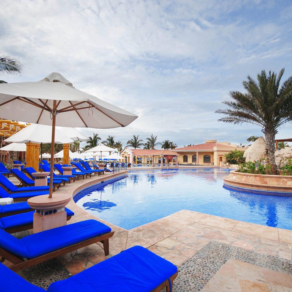 Pool Resort Tropical sky swimming pool leisure property Villa resort town blue Water park palace hacienda set swimming