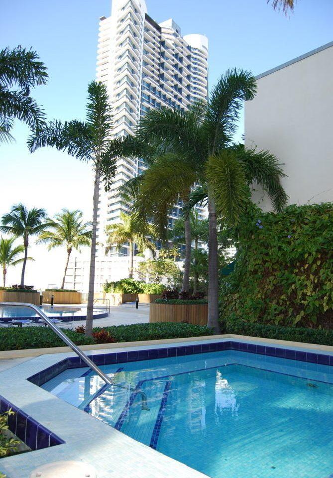 tree sky condominium swimming pool property Resort Villa Pool arecales mansion blue