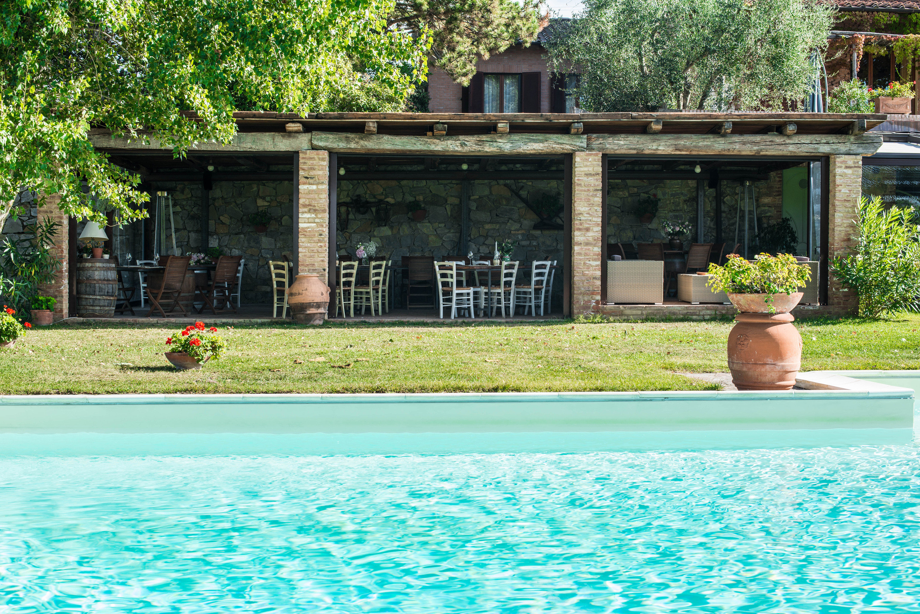 tree swimming pool property house Pool home backyard Villa Resort cottage mansion swimming