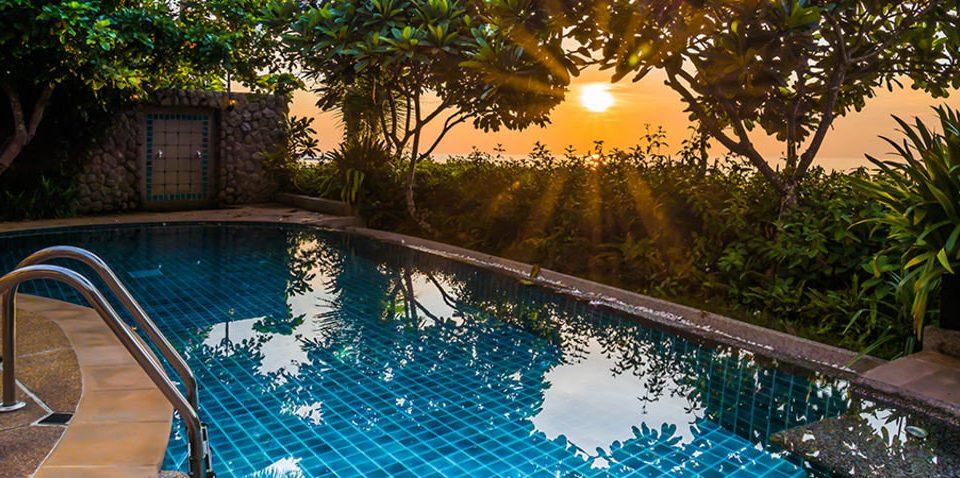 tree swimming pool property leisure Pool backyard Resort Villa mansion landscape lighting plant empty