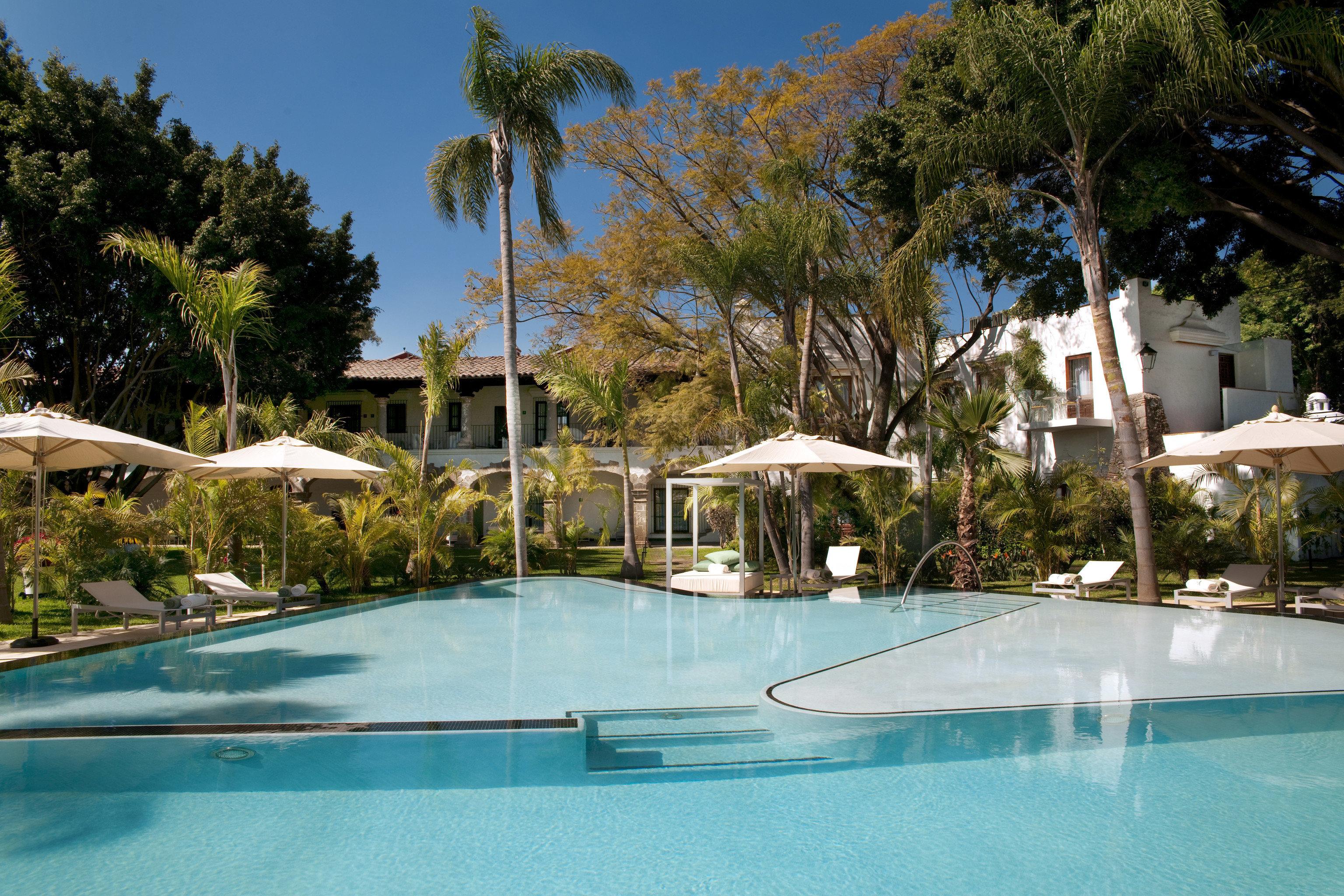 tree swimming pool property leisure Resort Villa blue resort town home backyard Pool