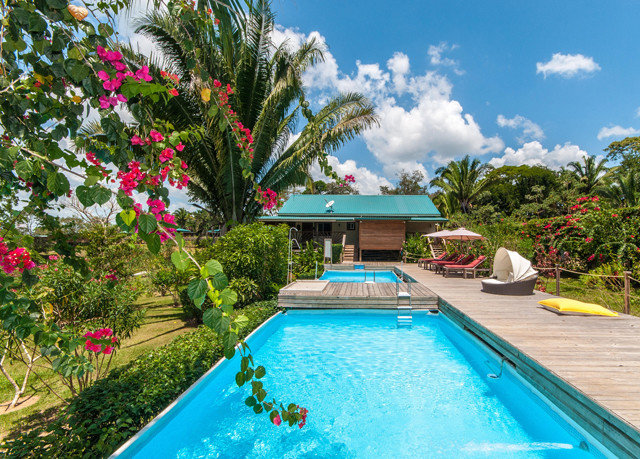 tree sky swimming pool property leisure Resort Villa backyard caribbean Pool blue colorful