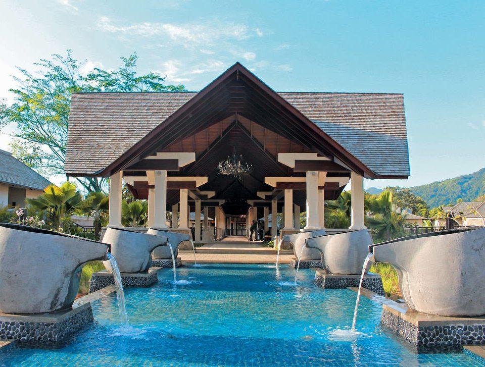 swimming pool property Resort house home blue Villa cottage Pool backyard mansion swimming