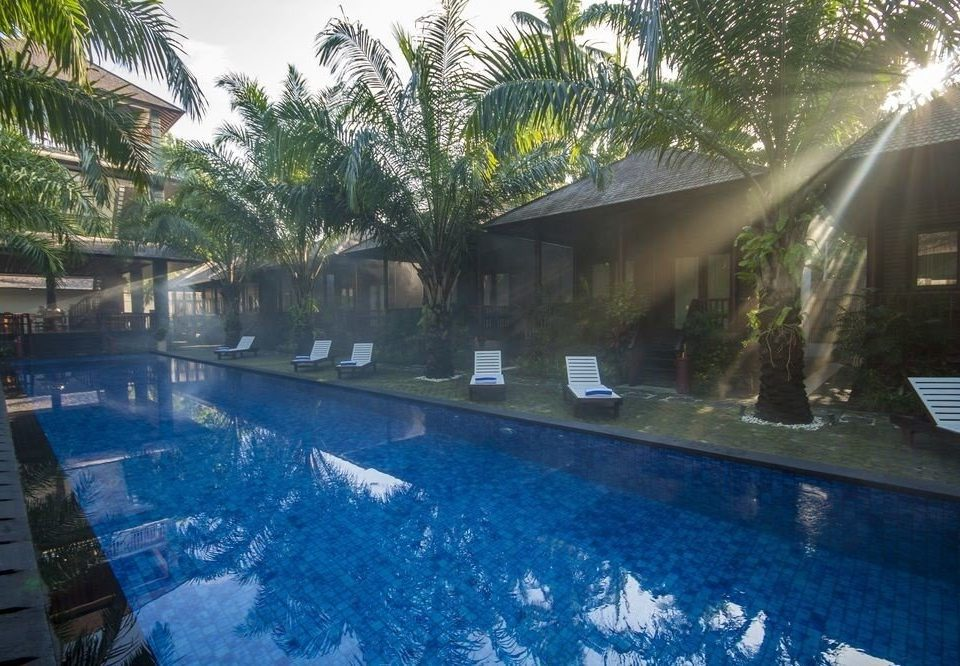 tree swimming pool property Resort Pool backyard Villa condominium