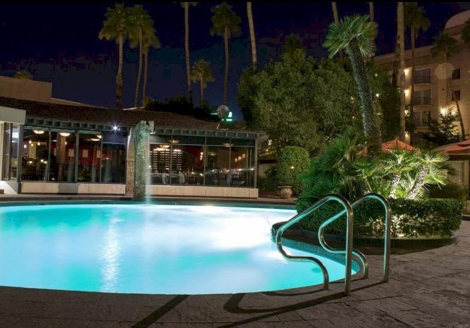 ground swimming pool leisure property Resort condominium backyard mansion Villa landscape lighting Pool