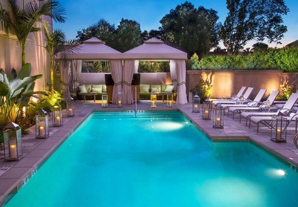 tree Resort swimming pool property building leisure Pool Villa mansion backyard hacienda blue
