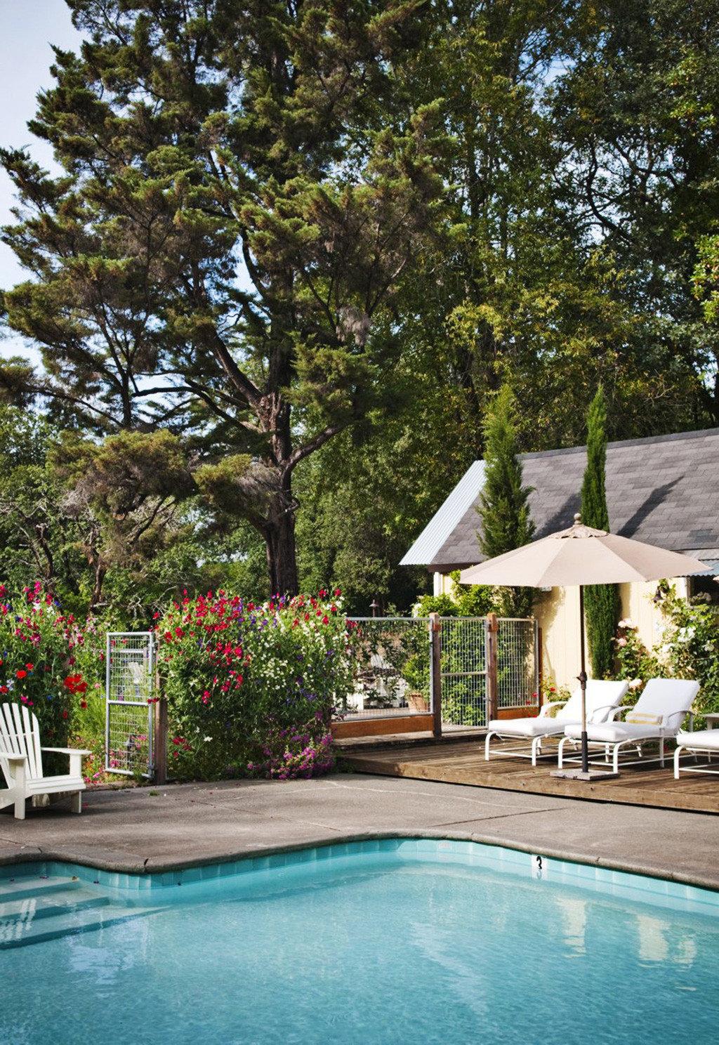 tree swimming pool property backyard Villa Pool cottage Resort