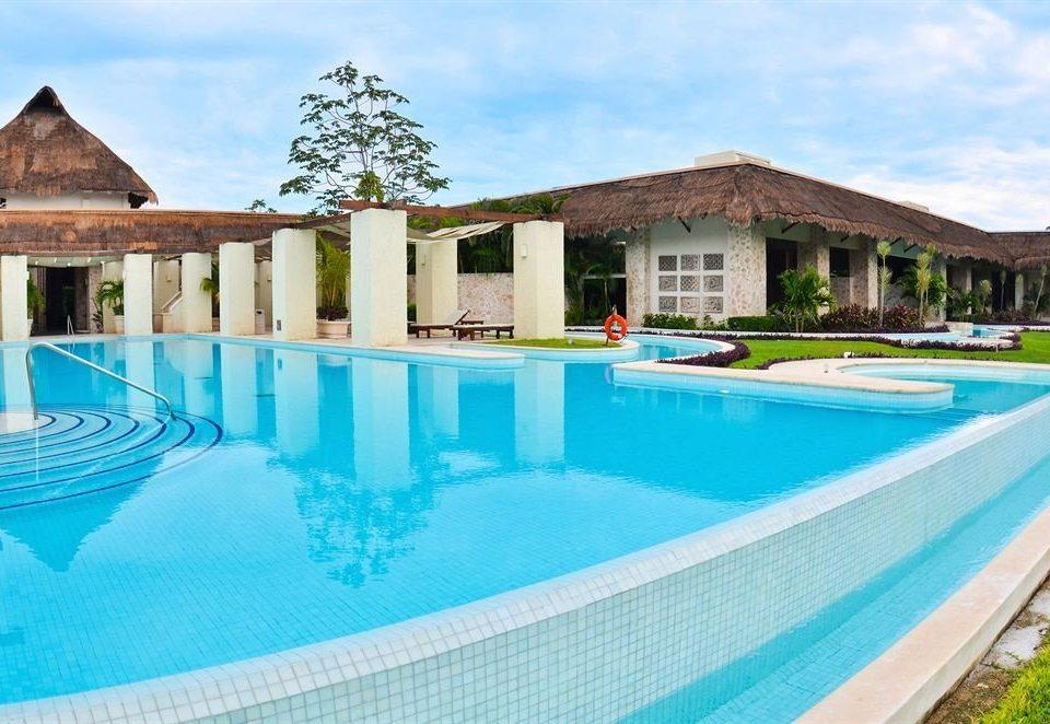 sky building swimming pool property leisure house Resort Villa blue Pool backyard lawn