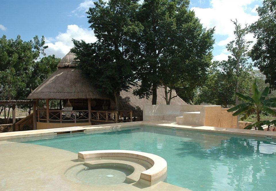tree Pool swimming pool property Resort Villa backyard hacienda swimming