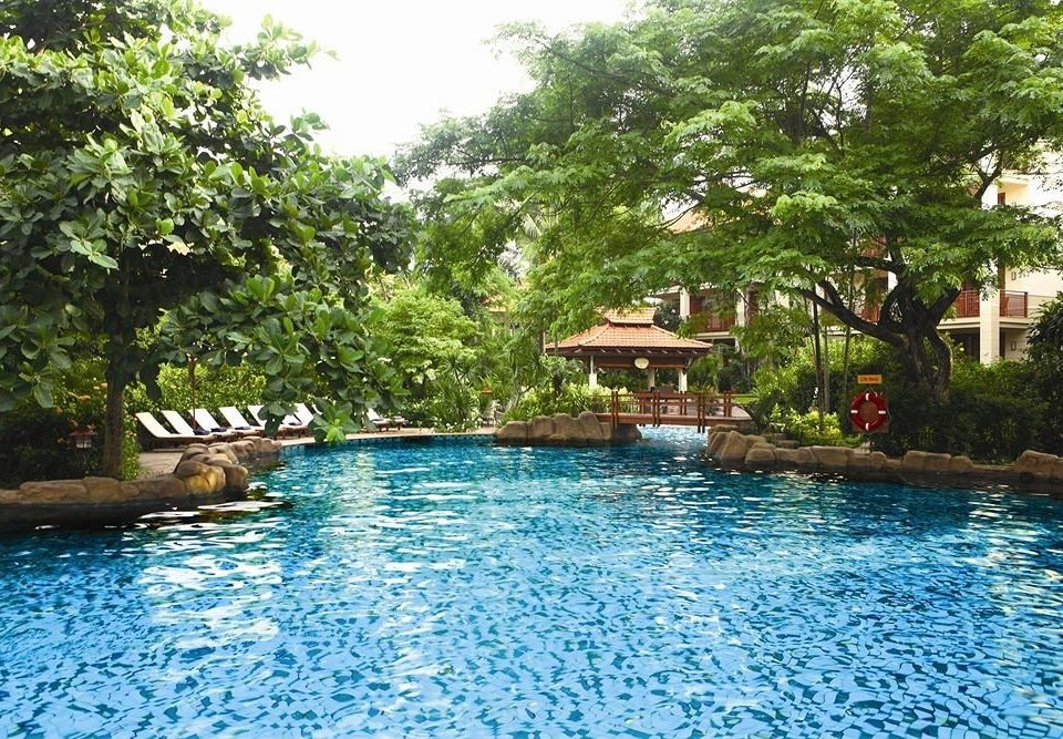 tree water swimming pool property Pool Resort house swimming resort town backyard Villa surrounded day