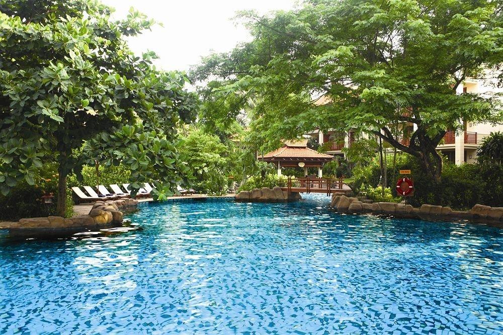 tree water swimming pool property Pool Resort house swimming resort town backyard Villa surrounded day