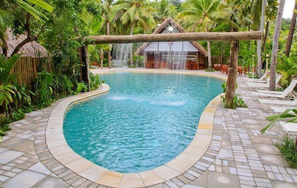 tree ground swimming pool property Resort building Pool backyard Villa eco hotel